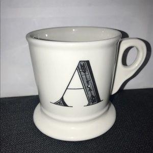 Anthropologie Initial Monogram Mug A